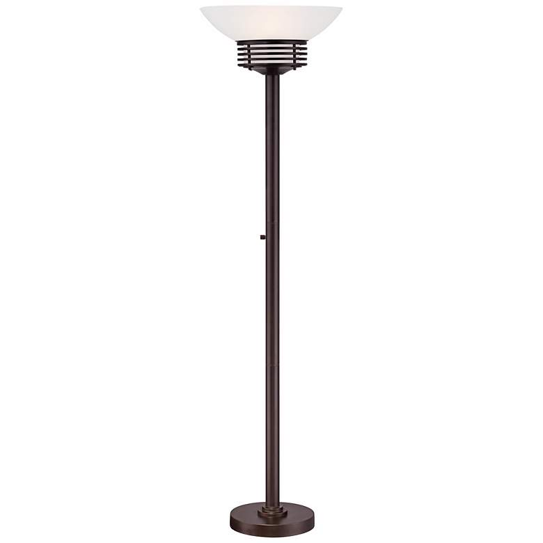 Possini Euro Retro Light Blaster™ Torchiere Lamp Bronze