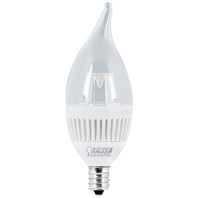 40W Equivalent 4.8W LED Dimmable Flame Tip Candelabra Bulb