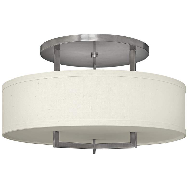 "Hinkley Hampton 26"" Wide Antique Nickel Ceiling Light"
