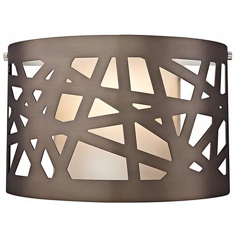 """Tech Lighting Ventana 11"""" Wide Bronze Wall Light"""