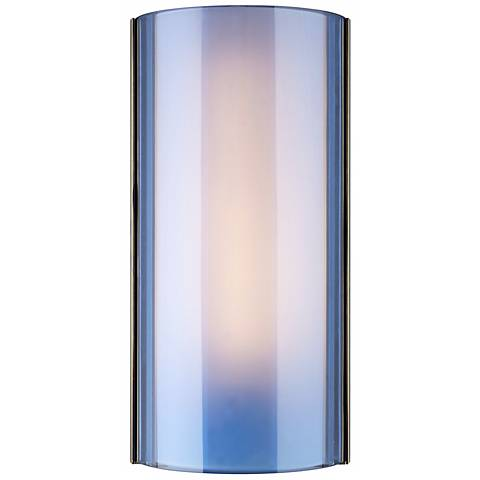 "Jaxon LED Blue/Nickel 14 1/2""H Tech Lighting Wall Light"