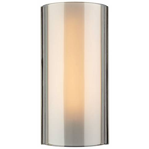 "Tech Lighting Jaxon Smoke 14 1/2"" High Nickel Wall Light"