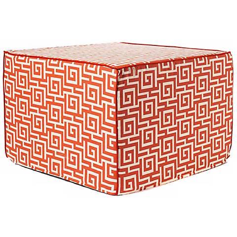 Puzzle Outdoor Square Orange Ottoman