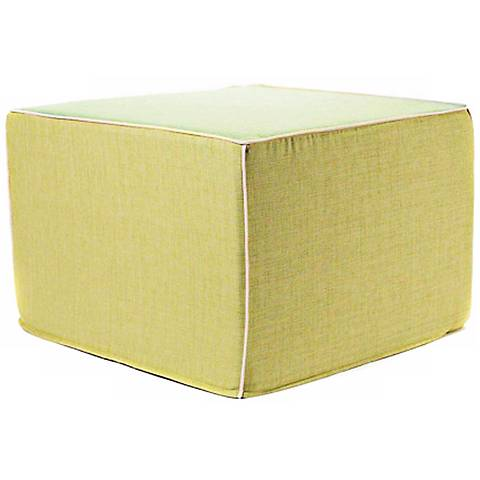 Puzzle Outdoor Square Celery Ottoman