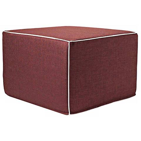 Puzzle Outdoor Square Chocolate Ottoman