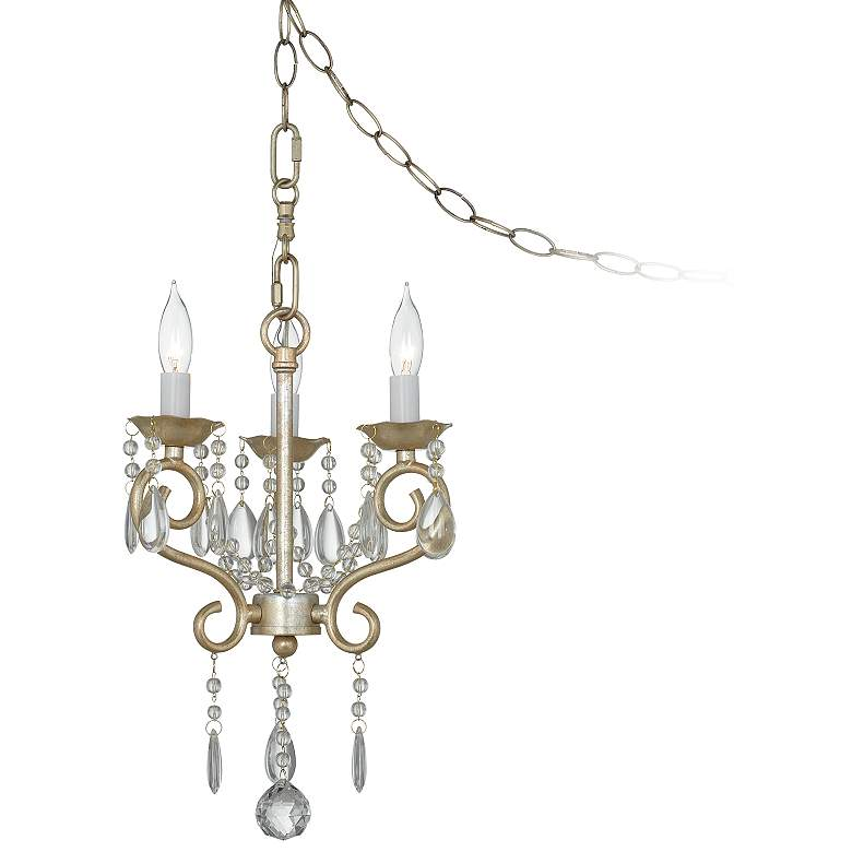 """Conti Champagne Gold 12"""" Wide Chandelier"""