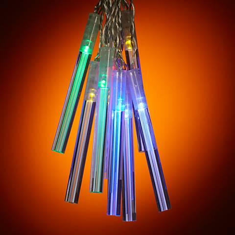 Solar Powered 10 Light Diffusion Rod LED String Lights