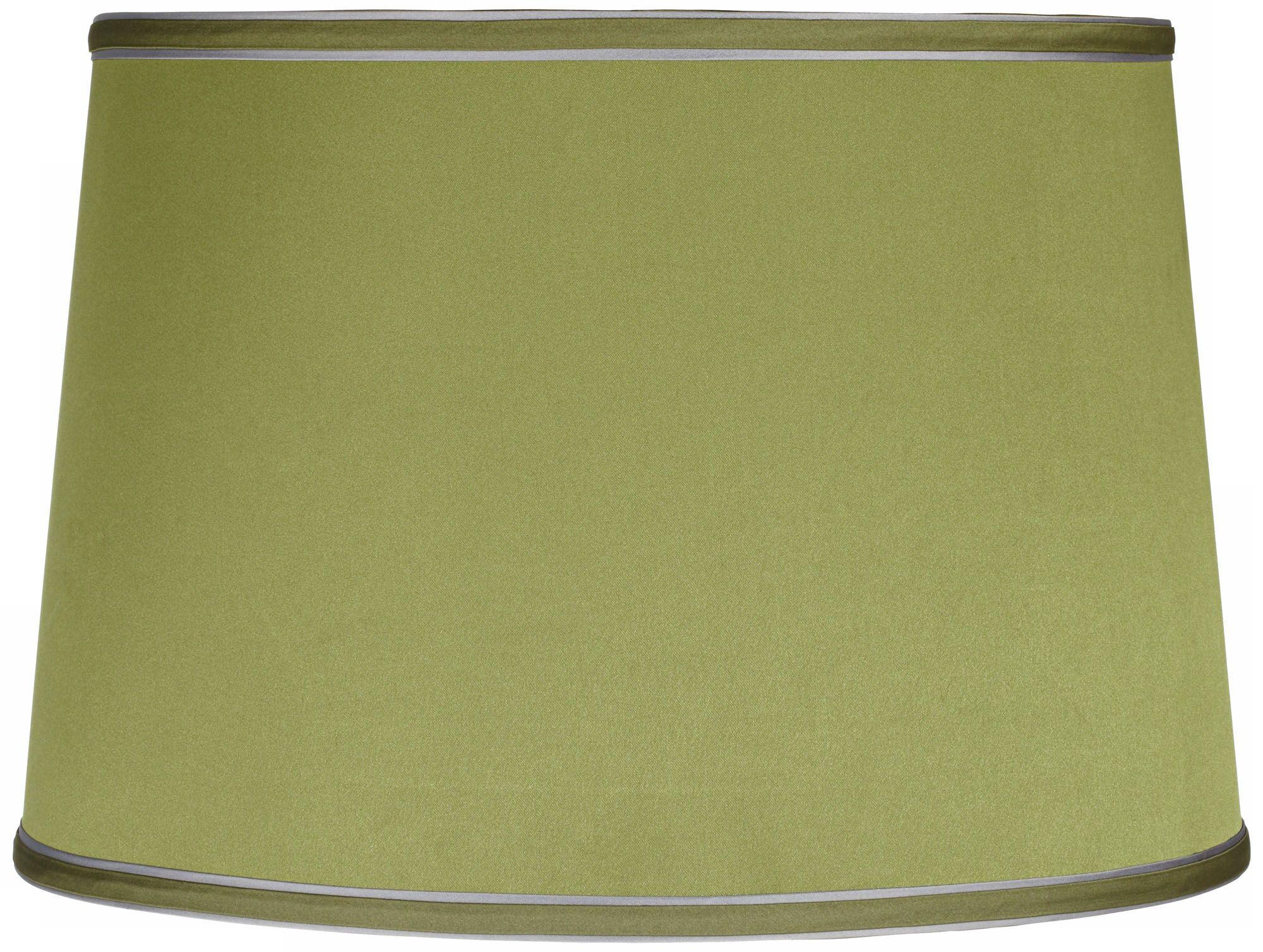 Charming Sydnee Satin Olive Green Drum Lamp Shade 14x16x11 (Spider)