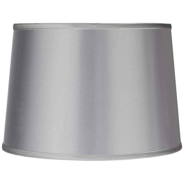Sydnee Satin Light Gray Drum Lamp Shade 14x16x11