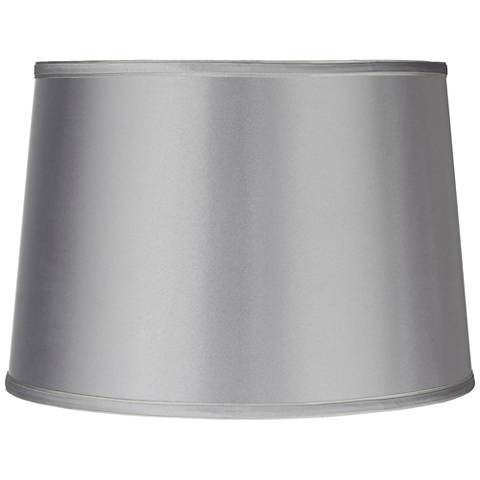Sydnee Satin Light Gray Drum Lamp Shade 14x16x11 (Spider)