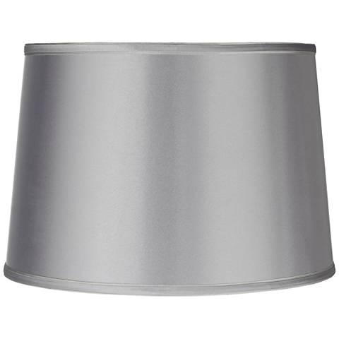 Sydnee Satin Light Gray Drum Lamp Shade 14x16x11 Spider