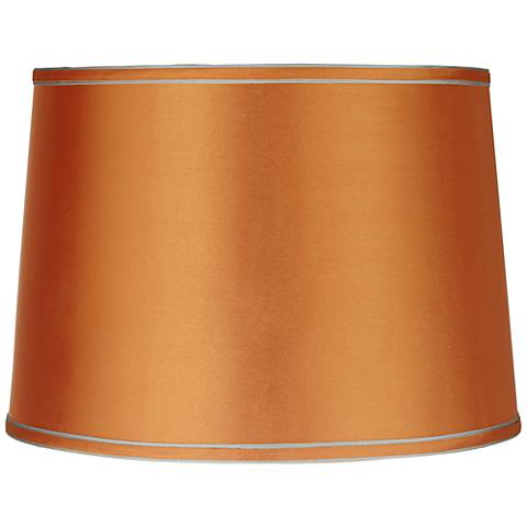 Sydnee Satin Orange Drum Lamp Shade 14x16x11 (Spider)