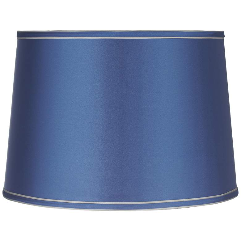 Sydnee Satin Medium Blue Drum Lamp Shade 14x16x11