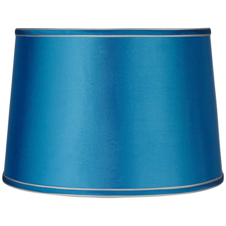 Sydnee Satin Turquoise Drum Lamp Shade 14x16x11 (Spider)
