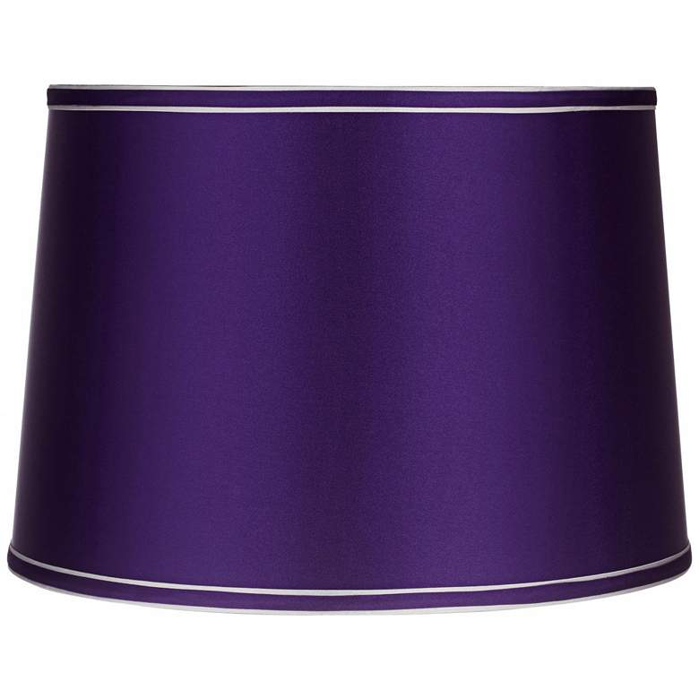 Sydnee Satin Dark Purple Gray Trim Shade 14x16x11 (Spider)