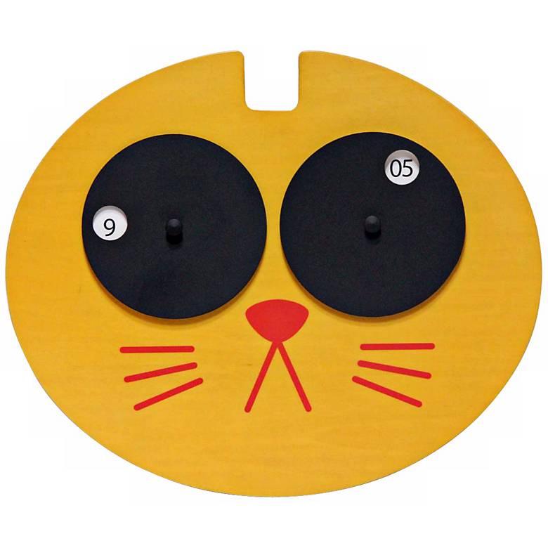 Hepcat Yellow Cat Child's Wall Clock