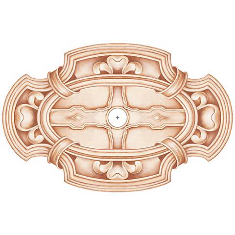 "Gilles Square 48"" Wide Repositionable Ceiling Medallion"