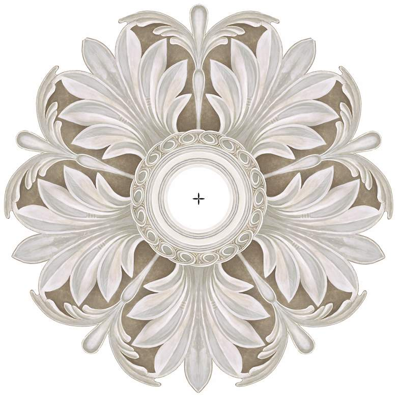 """Acanthus Round 24"""" Wide Repositionable Ceiling Medallion"""