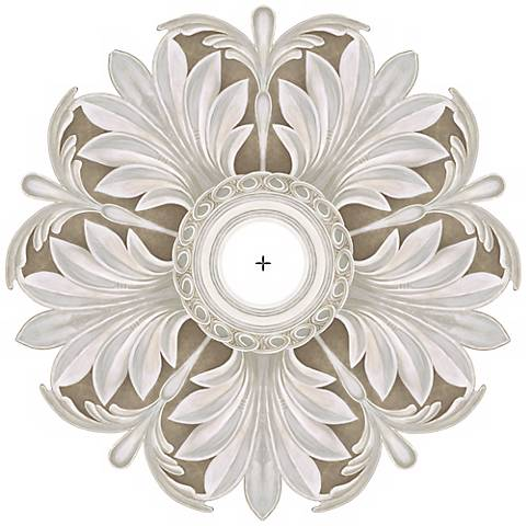 "Acanthus Round 24"" Wide Repositionable Ceiling Medallion"