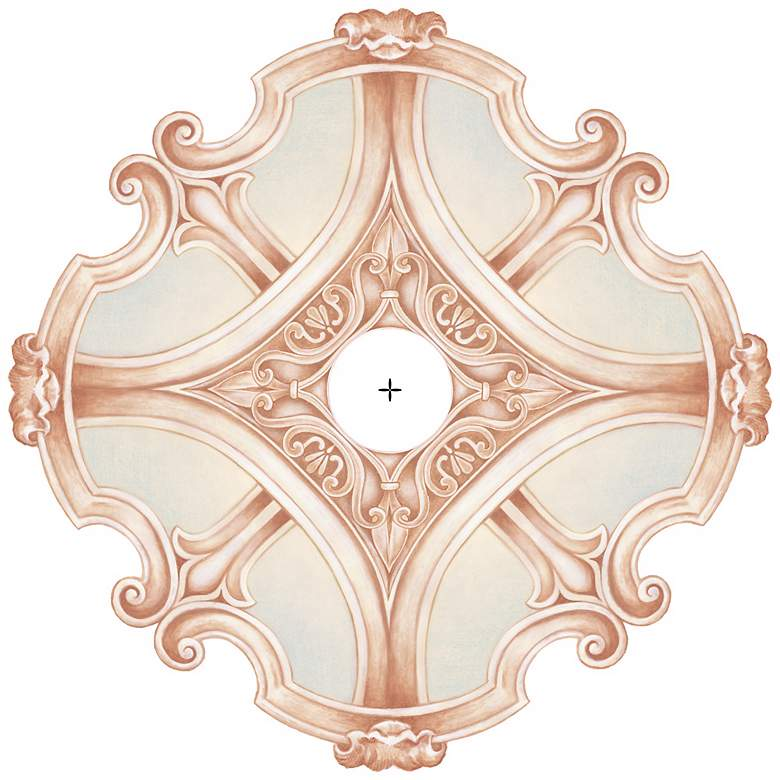 "Nouveau Giclee 24"" Wide Repositionable Ceiling Medallion"