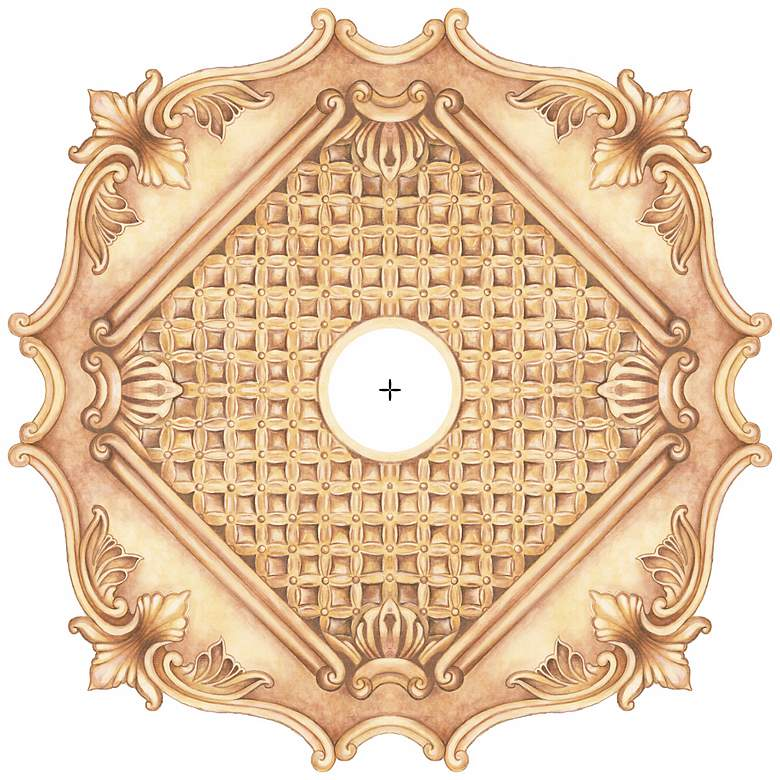 """Essex Square 24"""" Wide Repositionable Ceiling Medallion"""