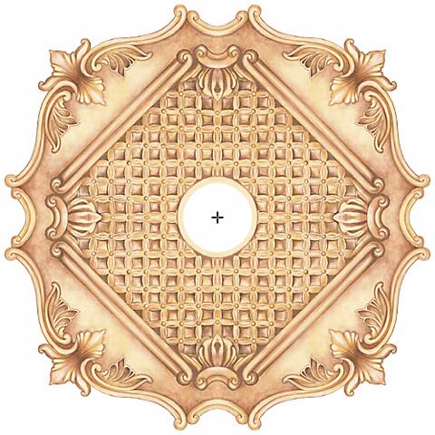 "Essex Square 24"" Wide Repositionable Ceiling Medallion"