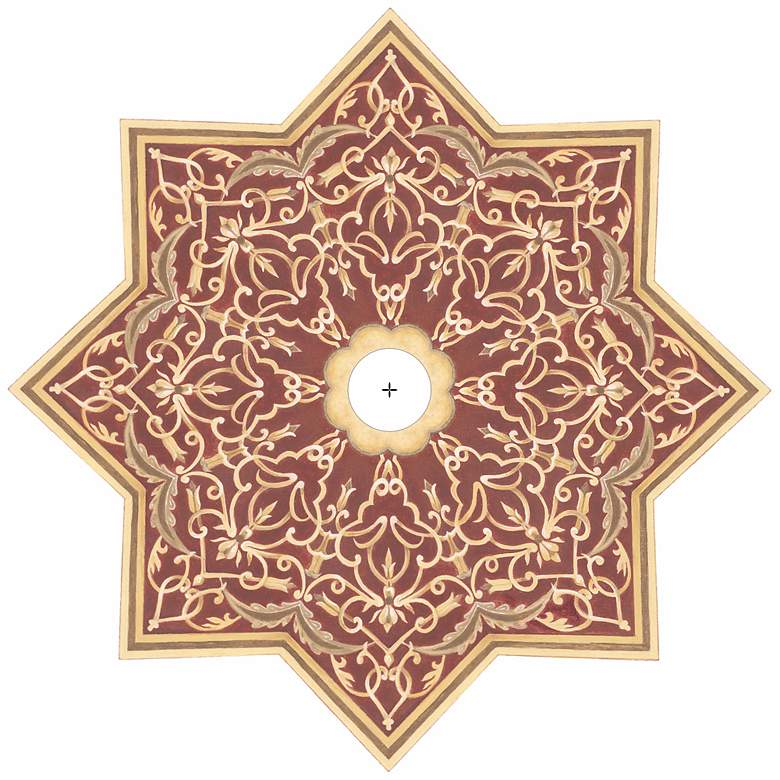 """Moroccan Scroll 36"""" Wide Repositionable Ceiling Medallion"""