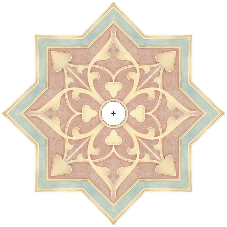 "Seville Giclee 36"" Wide Repositionable Ceiling Medallion"