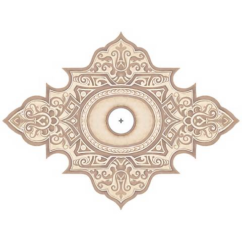 "Somerset Giclee 36"" Wide Repositionable Ceiling Medallion"