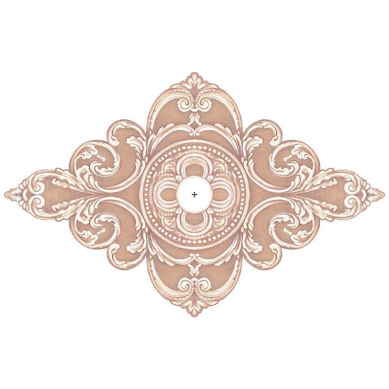 """Florentine Giclee 48"""" Wide Repositionable Ceiling Medallion"""