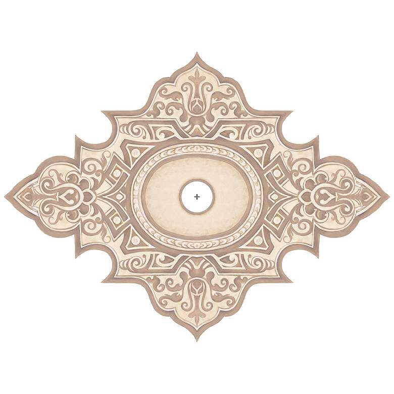 "Somerset Giclee 48"" Wide Repositionable Ceiling Medallion"