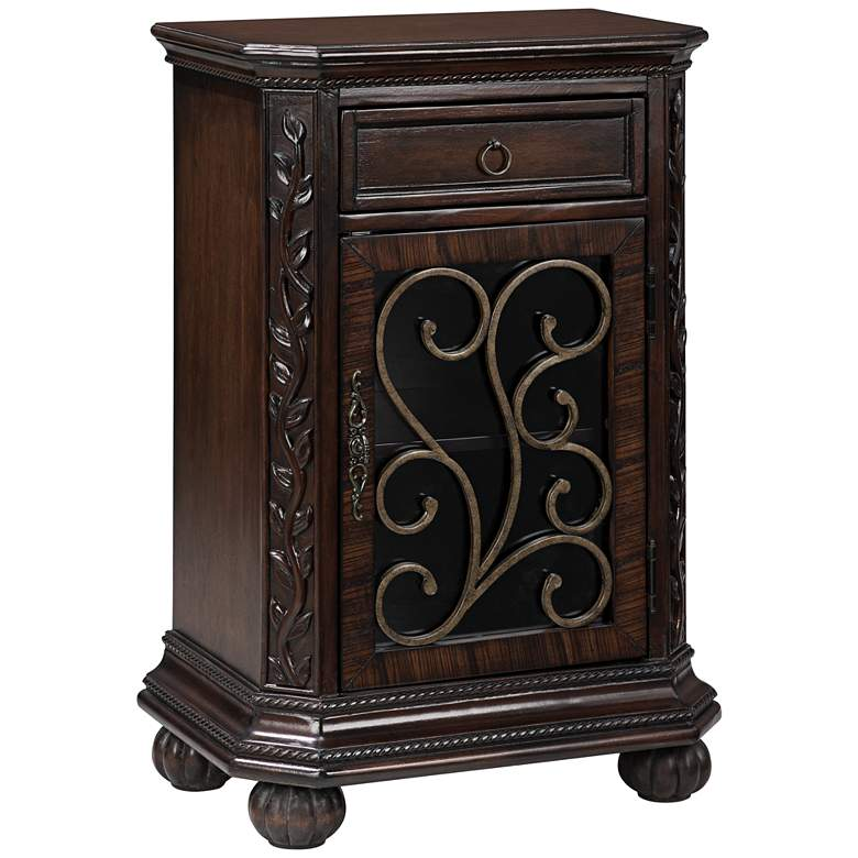 "Arriana 22 1/2"" Wide Cherry Finish Accent Table"