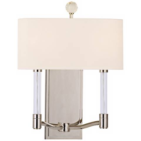 "Waterloo 16"" High 2-Light Polished Nickel Wall Sconce"