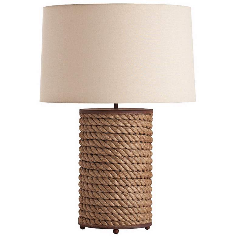 Arteriors Home Vern Rope and Rusted Iron Table Lamp