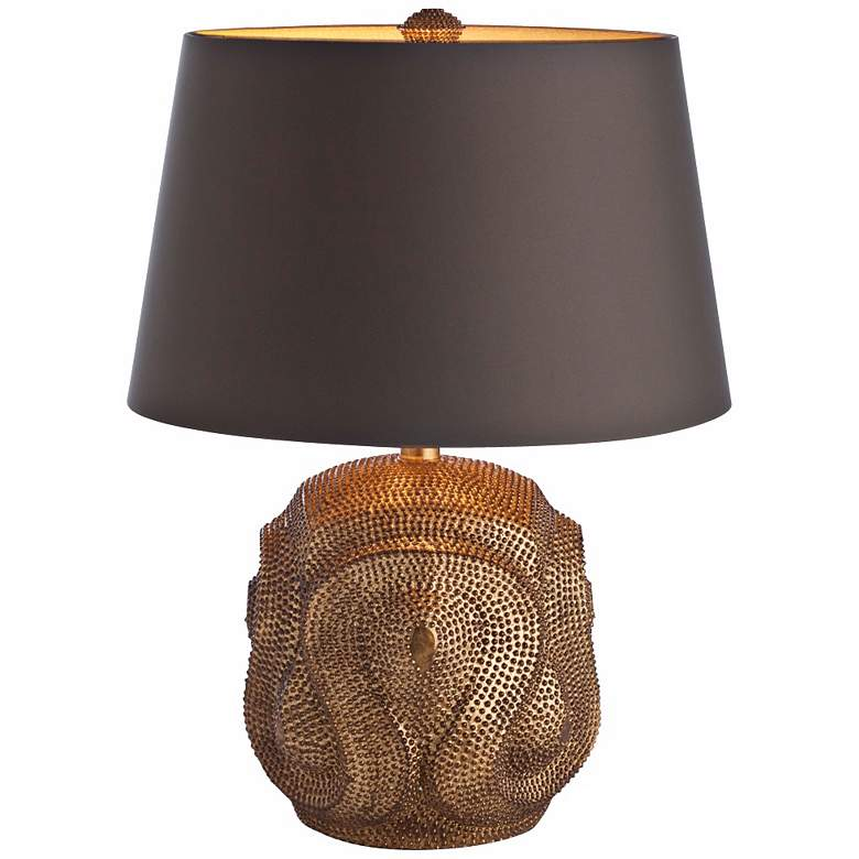 Arteriors Home Baroque Antiqued Gold Leaf Table Lamp