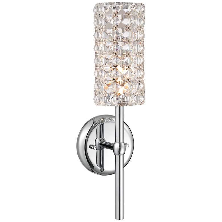 "Cesenna 16"" High Crystal Cylinder Wall Sconce"