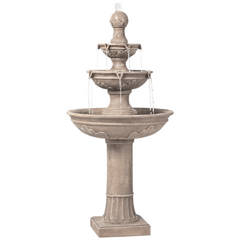 "Stafford Three Tier 48"" High Indoor - Outdoor Fountain"