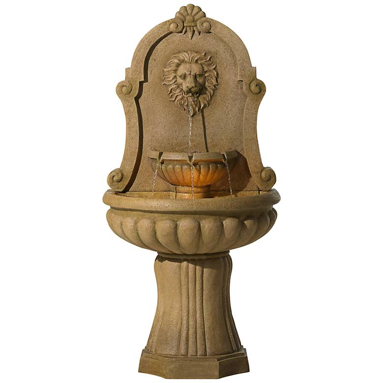"Savanna Lion 58"" High Indoor - LED Outdoor Floor Fountain"