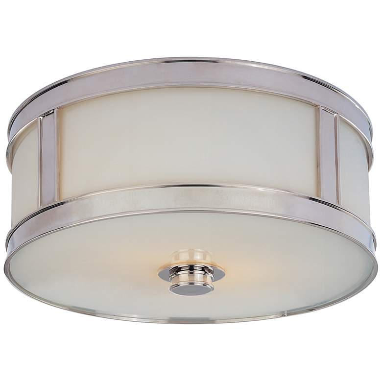 "Hudson Valley Patterson 13"" Wide Nickel Ceiling Light"