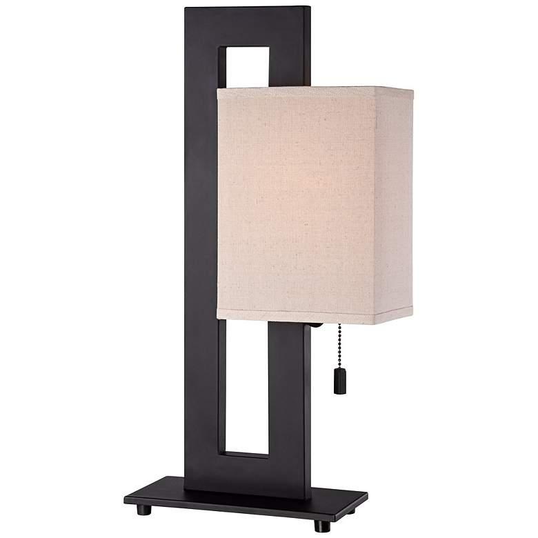Floating Square Espresso Bronze Modern Table Lamp