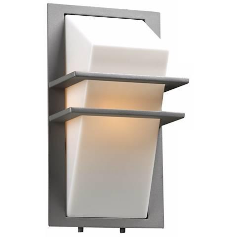 """Juventas 13 1/2"""" High Silver Outdoor Wall Light"""
