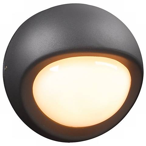 """Sol Collection 7 1/2"""" Wide Graphite Outdoor Wall Light"""