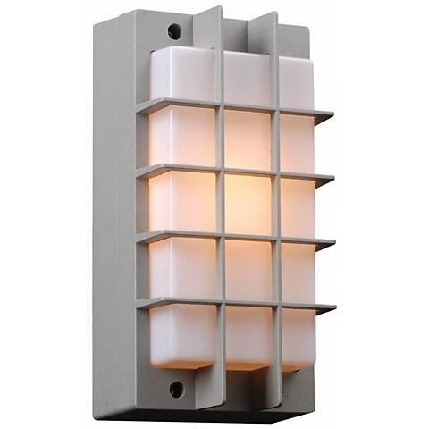 "Lorca 10 1/2"" High Silver Outdoor Wall Light"