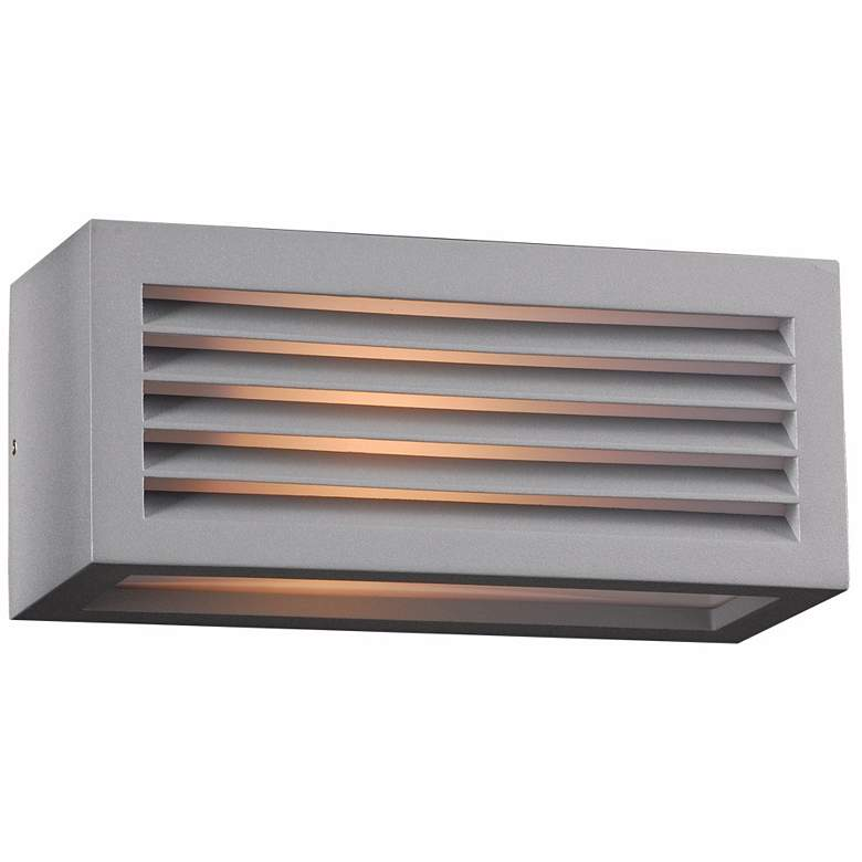 """Madrid 10"""" Wide Silver Outdoor Wall Light"""