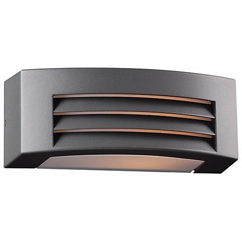 "Luciano 11 1/2"" Wide Bronze Graphite Outdoor Wall Light"