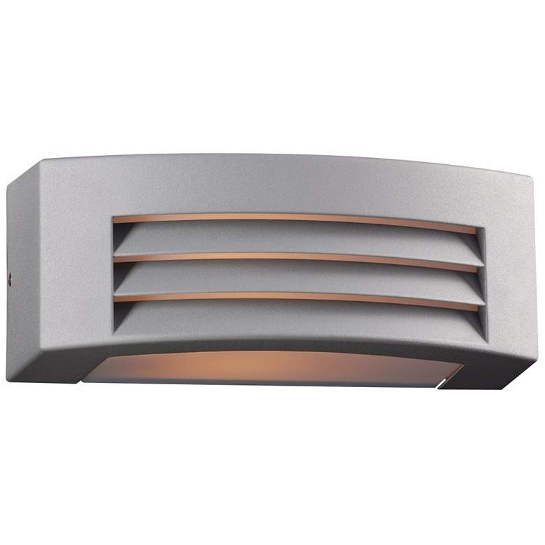 """Luciano 11 1/2"""" Wide Silver Outdoor Wall Light"""