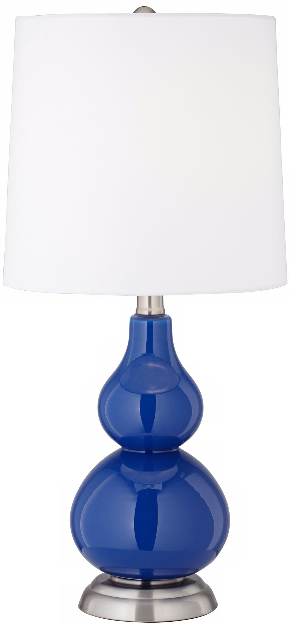 Royal Blue Small Gourd Accent Table Lamp Pictures Gallery