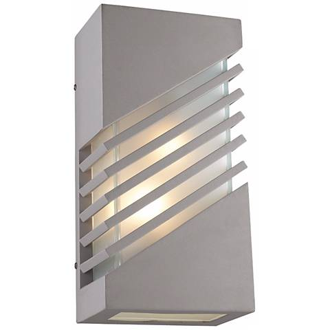 "Perlage16"" High Silver Outdoor Wall Light"