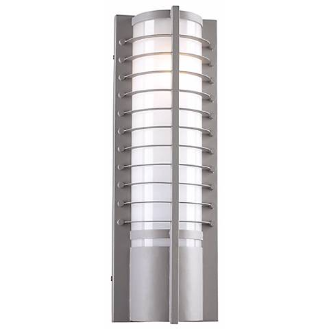 """Terrence Collection 21 1/2"""" High Bronze Outdoor Wall Light"""