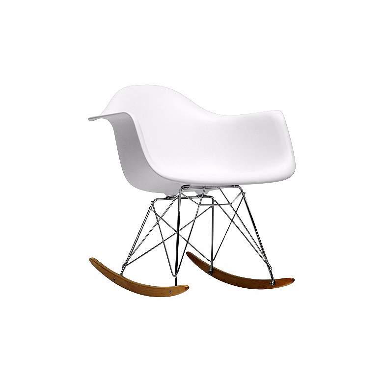 Earl White Plastic Rocking Chair
